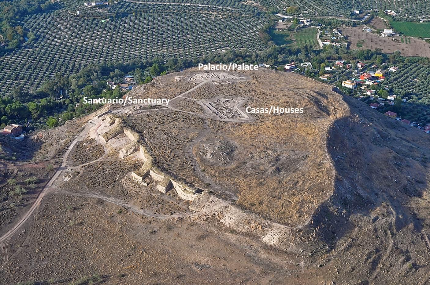 Aerial photo of the oppidum Puente Tablas